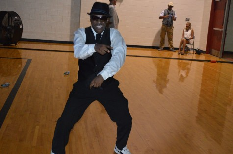 During the Homecoming dance on Sept. 2, senior Nick Crim busts a move.