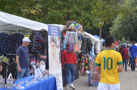 Community organizations gave away complimentary items and information on the festival.