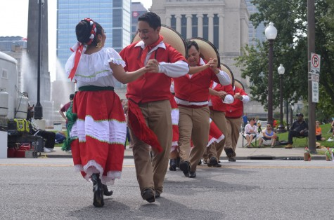 Spanish dancers performing at the festival.
