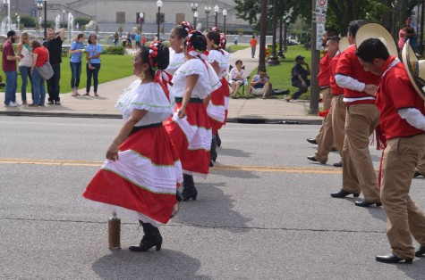 Spanish dancers performed routines.