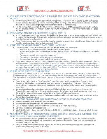Frequently asked questions about proposed referendum