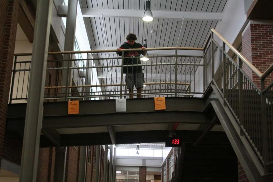 Jacob Tellas '18 addresses his fear of heights.