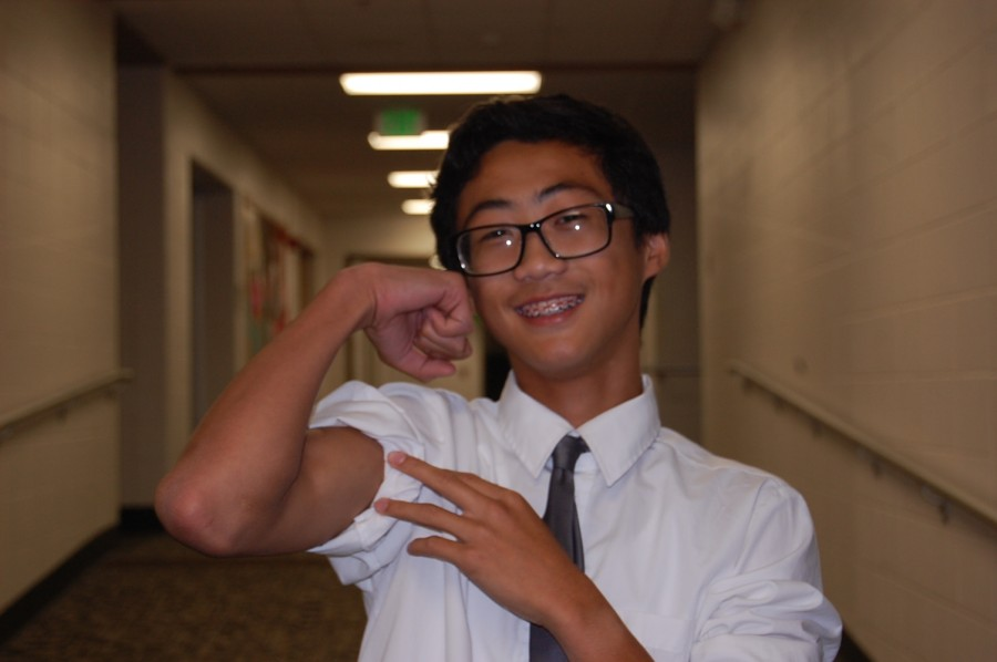 Freshman Jonathan Nguyen poses for a picture on Sept. 23, 2015. He says that SHS is a safe environment for the students and staff members.