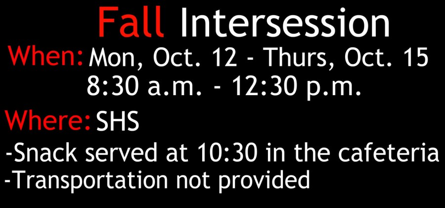 Fall Intersession to prepare students for test
