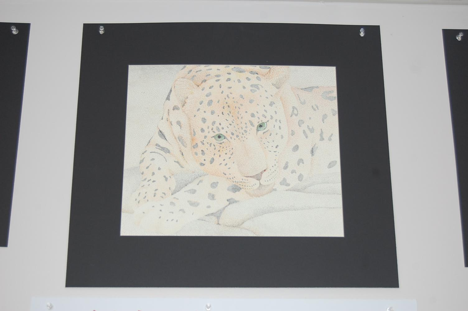 Junior Chaney Elliot drew a leopard for one of his art classes. Elliot has been drawing for years.