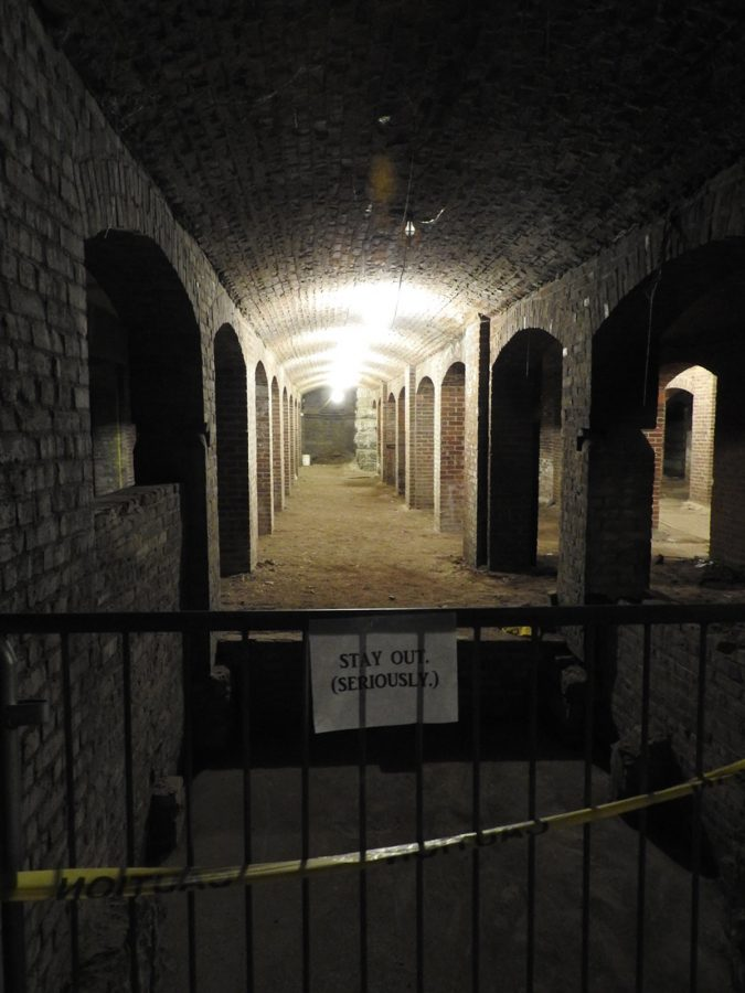 Picture of the Catacombs in downtown Indy on the evening of September 3.
