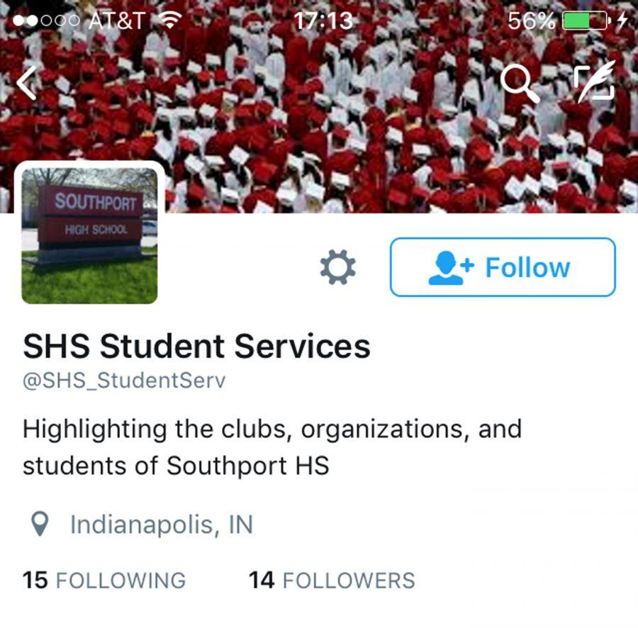 The twitter feed of student services. Administration has created social media accounts to interact with students.