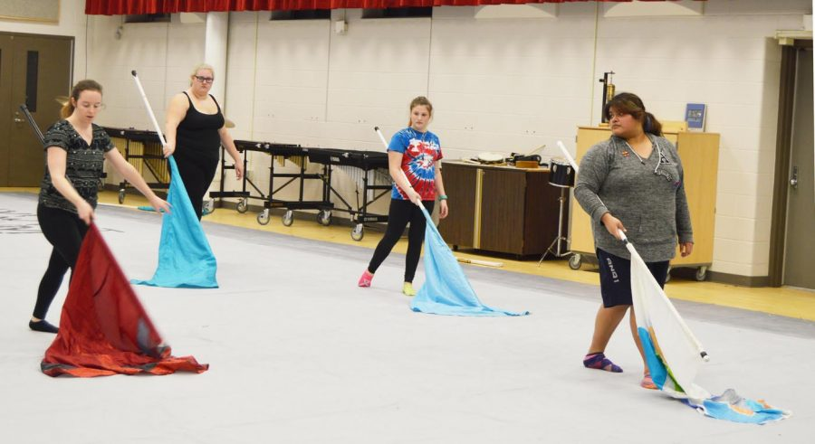 The SHS prepares for their upcoming competitions that start on Jan. 28 at Franklin High School.