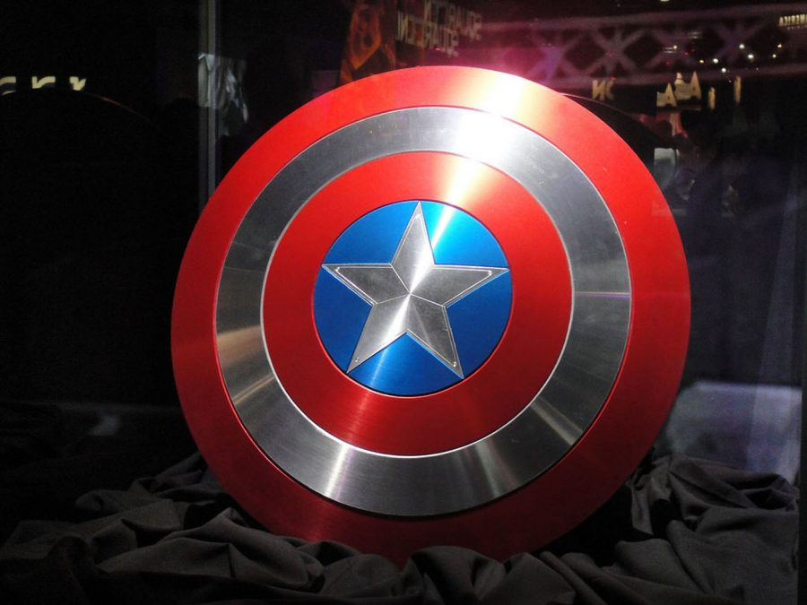 The Captain America shield on display. A San Jose Councilman was recently sworn in on one like it.