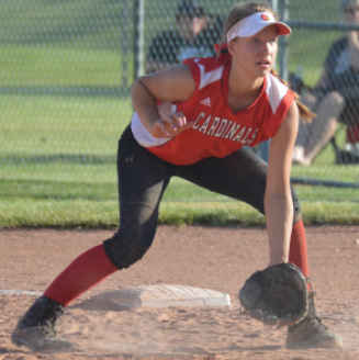 Freshman Vanessa Miller prepares to field a ball during a game against Shelbyville on May 16. SHS lost the game 12-7.