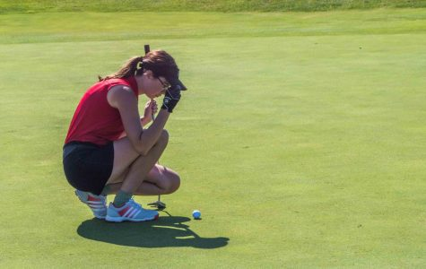 Girl's golf tees off against Franklin Community High School