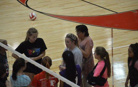 Freshman volleyball strives for improvement