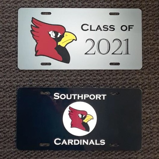 License plate examples of what International Club sold throughout the start of the year
