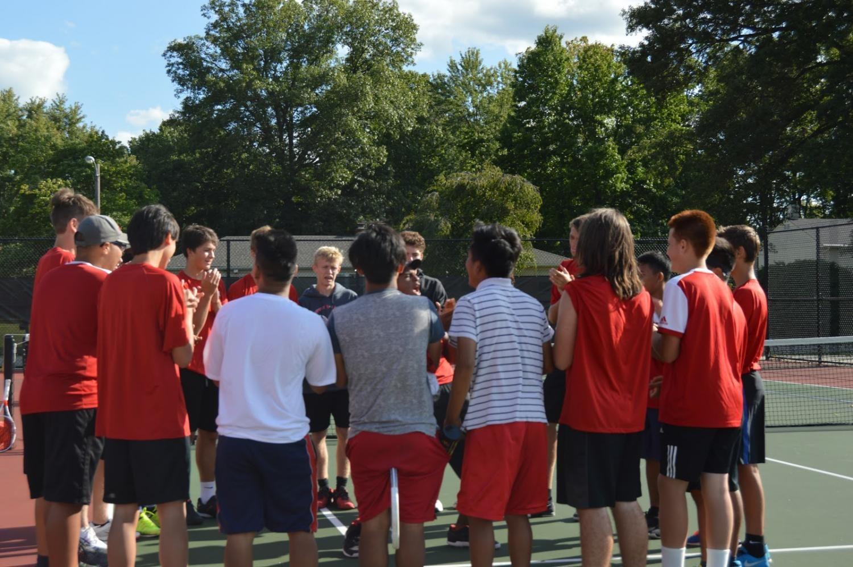Boys+tennis+match+against+Bloomington+South