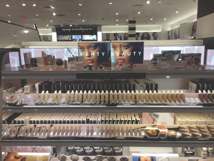 The+collection+of+Fenty+Beauty+products+at+Sephora+in+the+Greenwood+Park+Mall.+