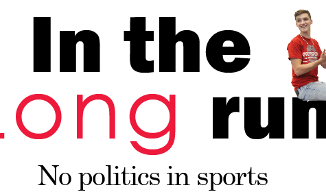 In the Long run: No politics in sports