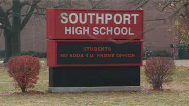 The sign out in front of SHS boasts a new addition to its announcement ticker which further advertises the new soda policy.