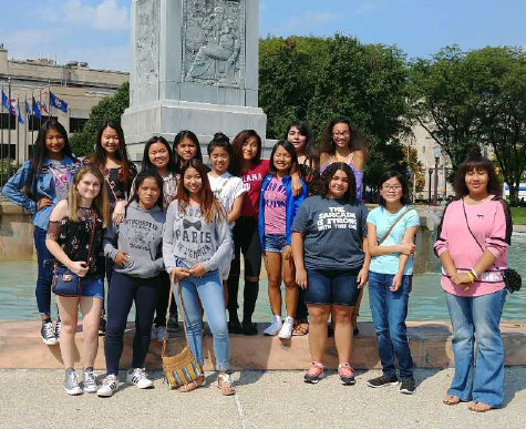 "These students visited ""La Fiesta"" in downtown Indianapolis."