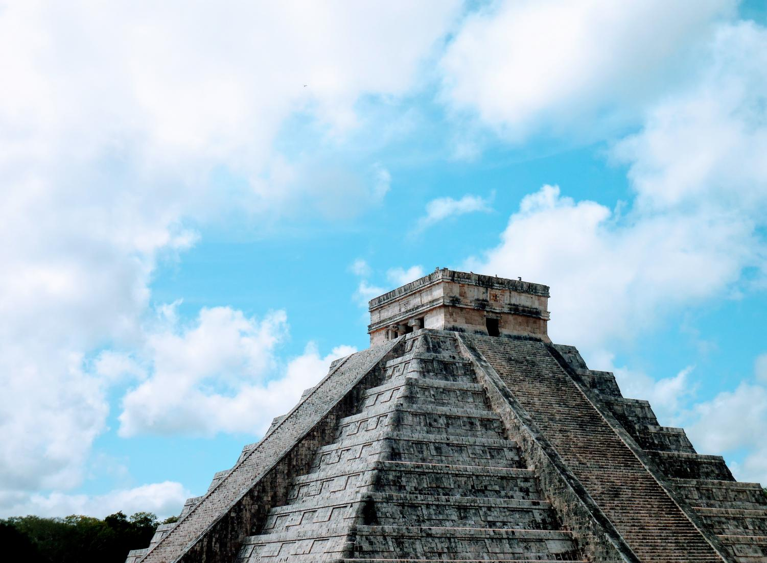 A pyrimad in Mexico called El Castillo. SHS students visited Mexico with the IU honors program.