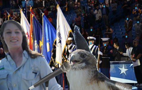 Hawk hammers NBA National Anthem