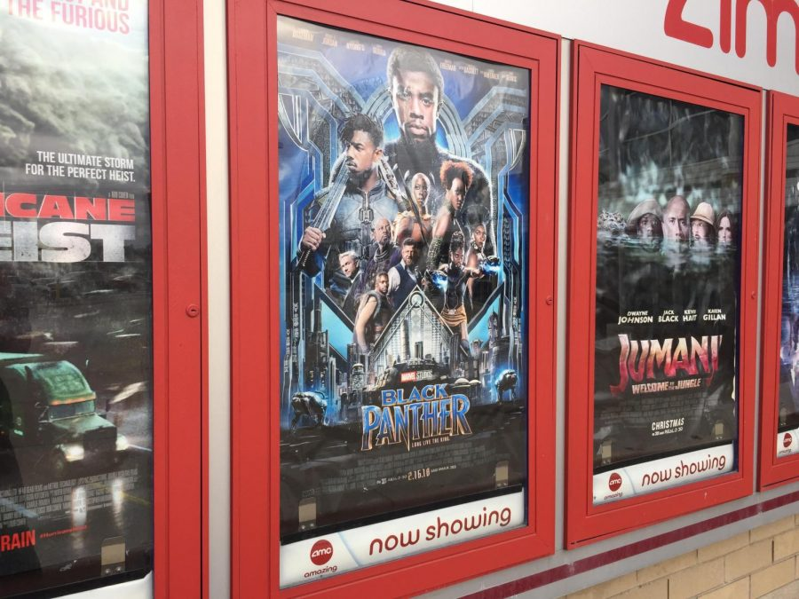 A+%22Black+Panther%22+poster+displayed+outside+of+Showplace+17.