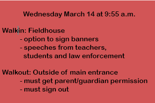 Here is a  small snippet of what students need to look out for Wednesday March 14. Be sure to read the story for full details.