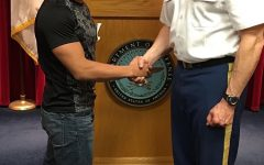 Senior Ben Miller formally enlisted on May 15, 2017. He decided to  join the military to help ensure a desirable future and for an adventure.