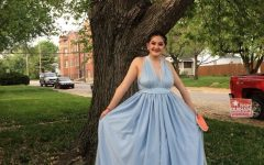 Junior Keily Conchas designed her own Prom dress. She included fabrics such as tulle and chiffon.