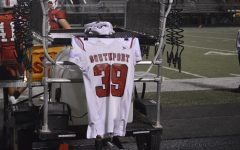 Joe Gilliam's jersey on display at SHS home games