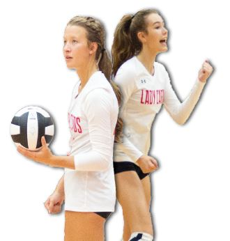 Juniors Vanessa Miller (left) and Lauren Cullison (right).