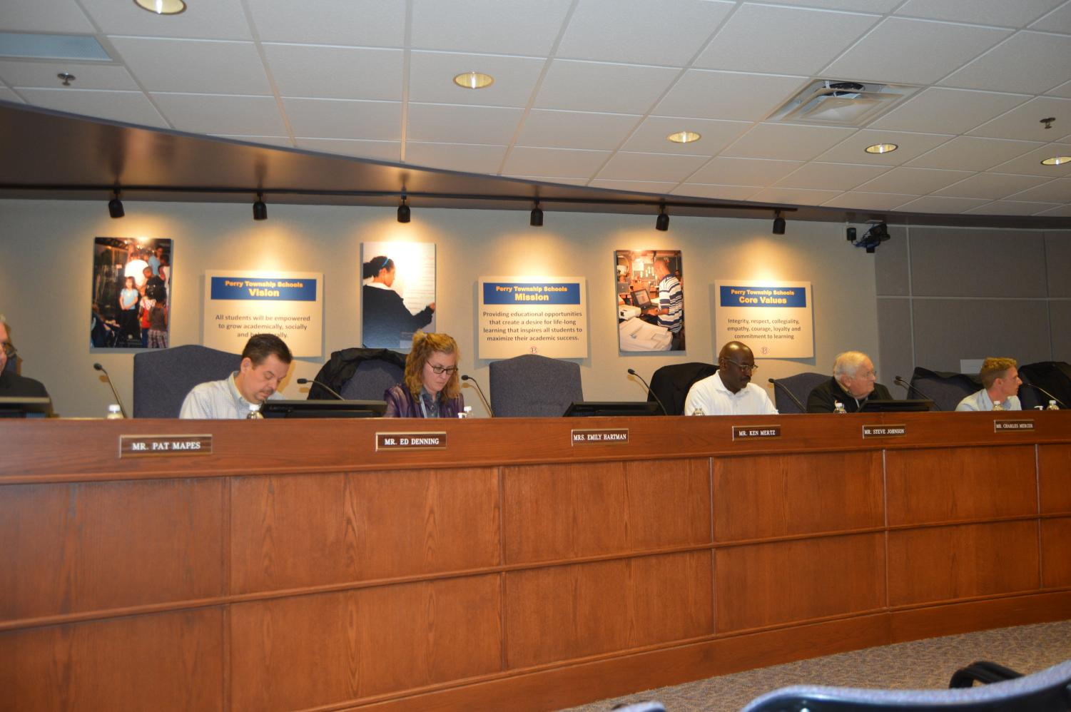 The Perry Township school board meets for a regularly scheduled board meeting on Dec. 10.