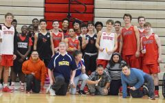 Best Buddies program joins boys basketball practice
