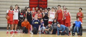 Best Buddies program joins boys basketball practice