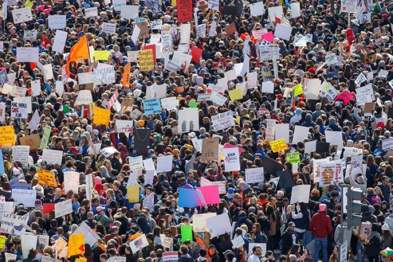 On March 24, 2018, March For Our Lives held a protest in Washington D.C. to encourage common sense gun laws. Over 1.2 million people across the U.S. held rallies in support of the movement.