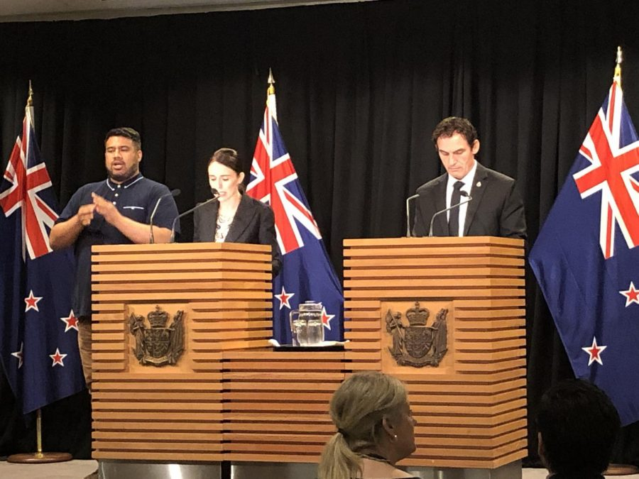 Prime Minister of New Zealand Jacinda Ardern (left) and Minister of Police of New Zealand Stuart Nash announce changes to gun laws to their country on March 16.