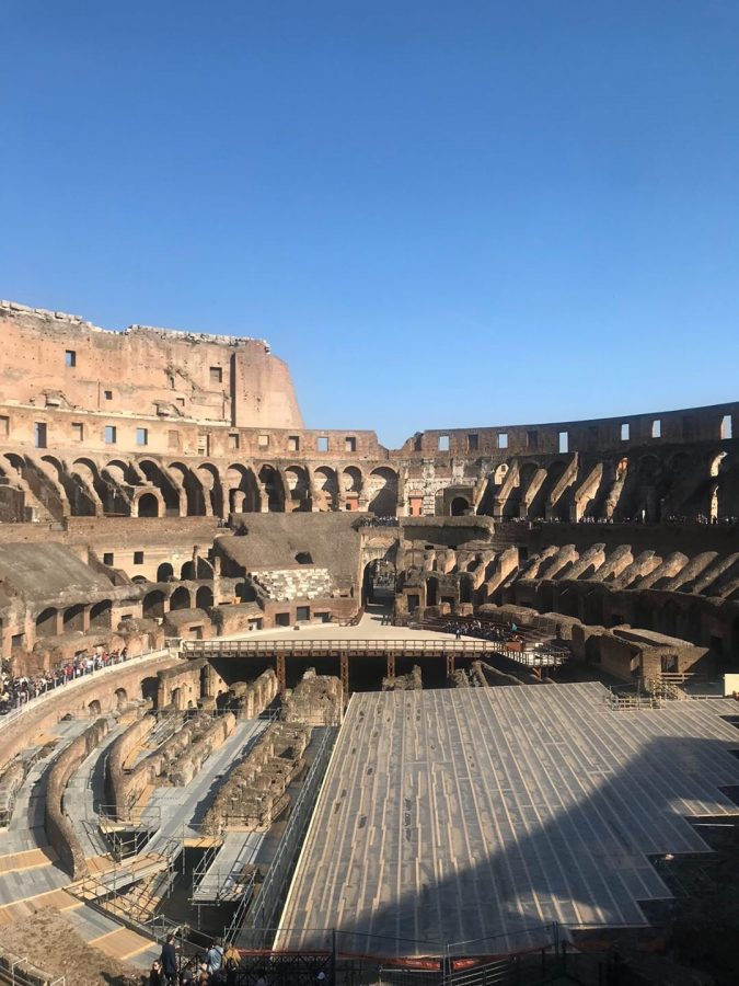 SHS+students+treveled+to+Europe+in+March+of+2019.+They+had+the+chance+to+visit+historical+sites+like+the+Colosseum.