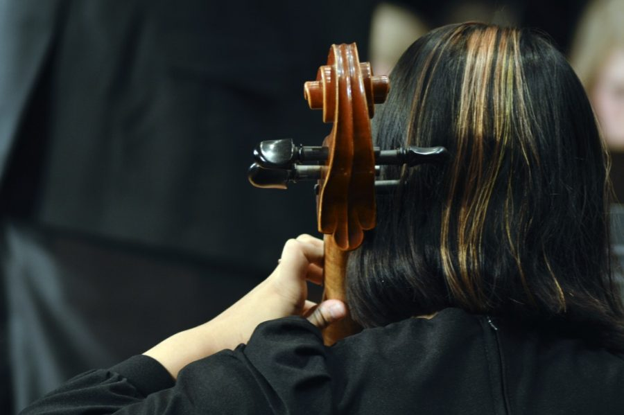 ON TUESDAY, DEC. 3, THE BEGINNING BAND AND ORCHESTRA PERFORMED THEIR ANNUAL WINTER CONCERTS.