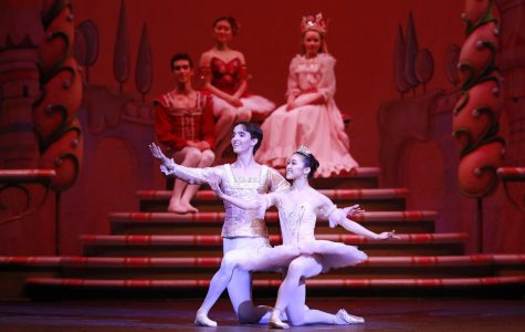 The Nutcracker Prince and the Sugar Plum Fairy have just finished the pas de deux. A pas de deux is a dance between two dancers, typically a male and female.