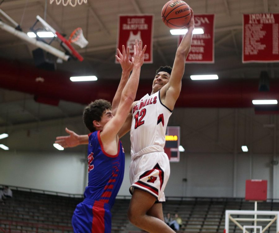 The SHS boys basketball team won 60-49 against Roncalli on Jan. 14.