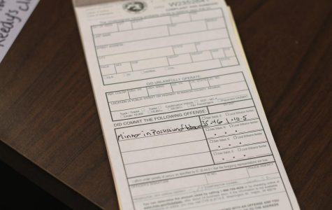 As of this month, students caught with illegal substances on school grounds will be ticketed.