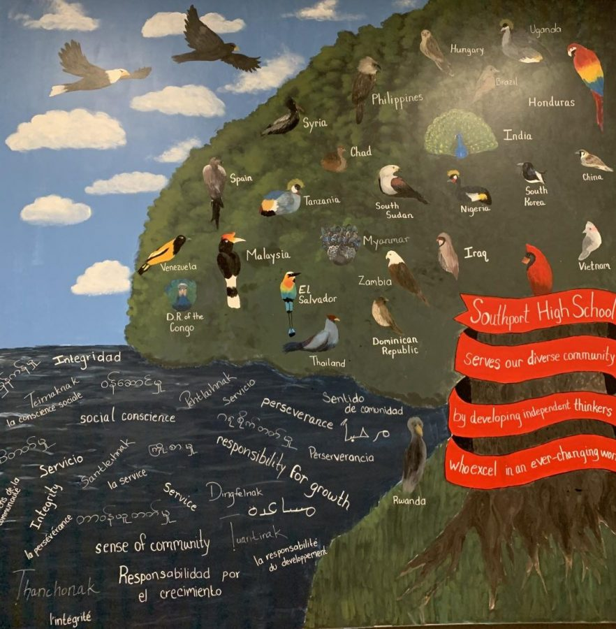 Last year students painted murals in the halls of SHS. They help show the diversity of the student body at SHS.
