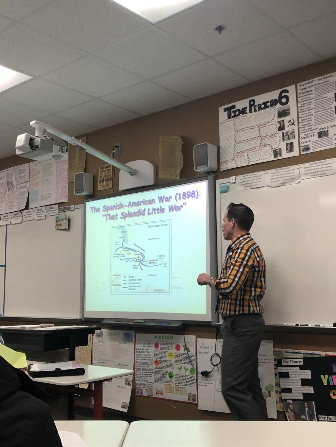 Social studies teacher David Luers teaches one of his classes. He recently got his new elective, Ethnic Studies, approved.
