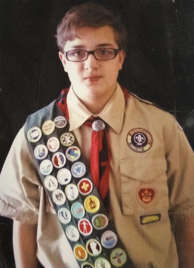 Sophomore Jonathan Craddock's mother, Jill Craddock, keeps a scrapbook to commemorate Jonathan's Eagle Scout journey.