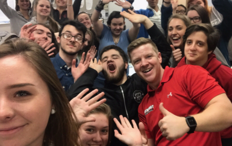 Social studies teacher Daniel Jones poses for a selfie with one of his classes. Jones works to create an inclusive learning environment in every class.