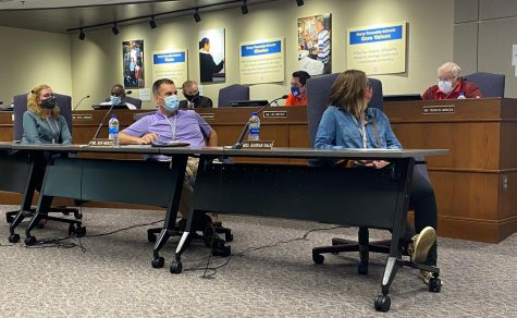 School Board members attend a meeting Sept. 28. Members make decisions they believe will help schools in the township.