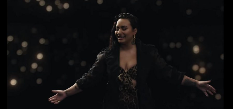 Demi+Lovato%27s+song+%27Commander+in+chief%22+has+an+intense+and+empowering+music+video.+Tears+could+be+seen+falling+down+her+face+in+this+moment.+