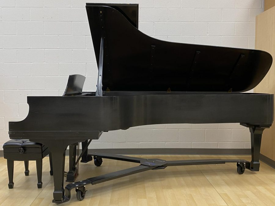 A Steinway Model D piano is a hidden treasure from the music department. The piano has gone up in  to around $150,000 in value.