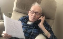 Alumnus Donald Miller is doing a phone call interview with The Journal. He had been preparing for days.