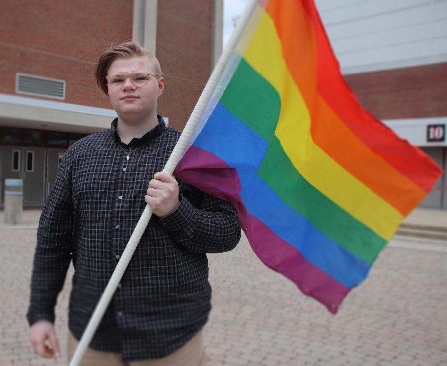 Junior Logan Spencer believes that the reopening of the Pride Alliance Club is important for the LGBTQ community. He is glad to know there will be a place where students feel like they belong again.