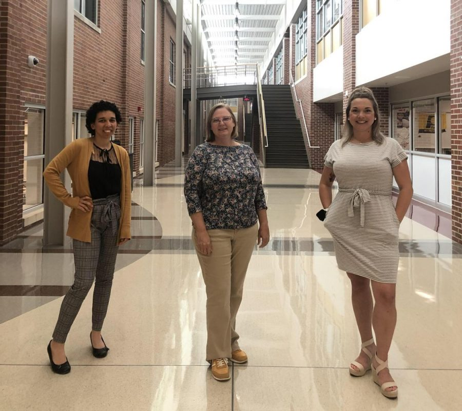 Art teacher Breanna Bierod and english teachers Julie Breeden and Jessica Walpole standing tall during the last week of school. They are proud of themselves and the rest of the SHS community.